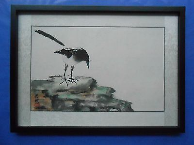 Chinese Painting on paper: Quiet Scene of Nature 靜觀自然 by Joe Wu