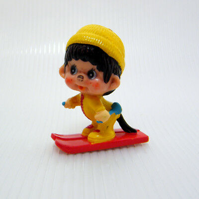 Vintage MONCHHICHI SKIER Downhill Cross Country Red Skis PVC Figure 4