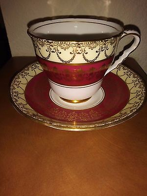 Royal Stafford Bone China Tea Cup & Saucer England Pattern #8178