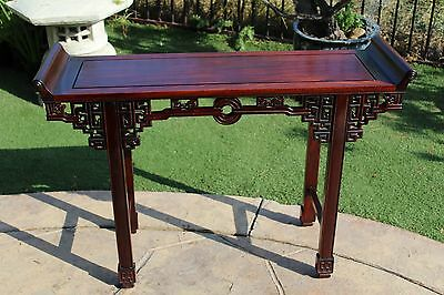 Solid Asian Rosewood ( Huanghuali ) Praying or Altar Table Qing