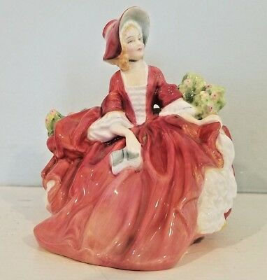 Royal Doulton, #1908 Lydia, Lovely lady sitting on a branch of flowers