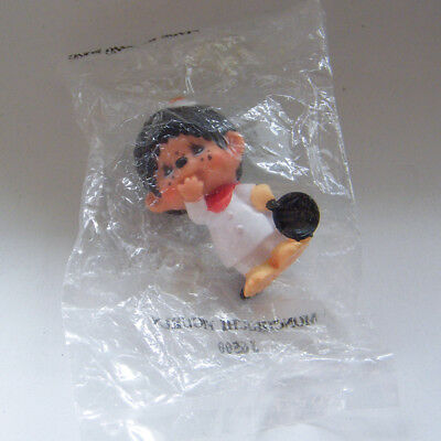 Vintage MONCHHICHI CHEF with Fried Egg on Head PVC 1979 Sekiguchi Mint in Pack