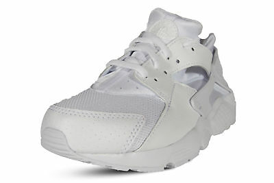 Nike Huarache Run Little Kids Platinum White Running Shoes 704949-110