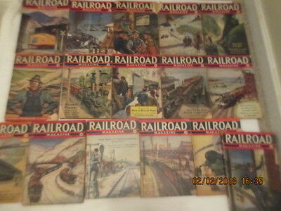 LOT of 16 Vintage Railroad Magazine 1938 1939 1940 Issues Train Stories Pulp RR