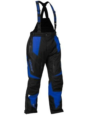 Castle X Fuel G6 Mens Snowmobile Bibs Blue