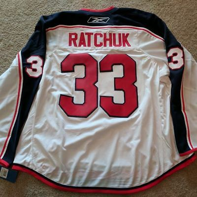 Mike Ratchuk 2009-10 Syracuse Crunch Outdoor Classic Game Issued Warm-up Jersey