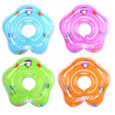 Sale Baby Kid Bath Swimming Neck Float Inflatable Ring Tube Adjustable Safety D1