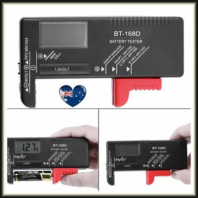 Battery capacity tester testing instrument for 9V 1.5V and AA AAA Cell Batteries