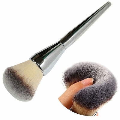 Face Makeup Blush Powder Silver Handle Cosmetic Large Brush Foundation Brushes L