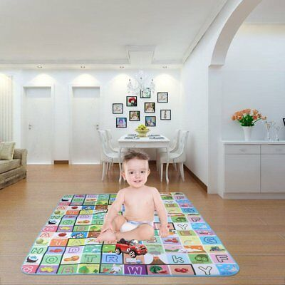 2mx1.8m XXL Nontoxic Baby Kids Play Mat Floor Rug Picnic Cushion Crawling Mat HT