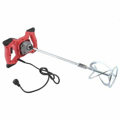 1800W Mortar Mixer Cement Render Paint Concrete Glue Plaster Rotary Drill Shaft