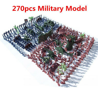 270pcs Military Amy Model Playset Soldiers Army Men Accessories Kids Boys Toys