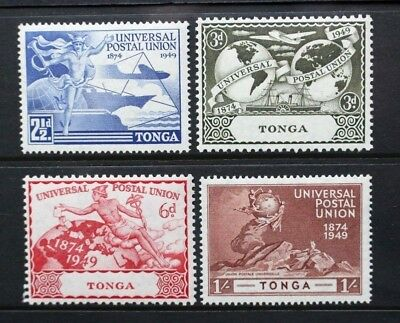 TONGA 1949 KGVI UPU Universal Postal Union. Set of 4. Mint Never Hinged. SG88/91