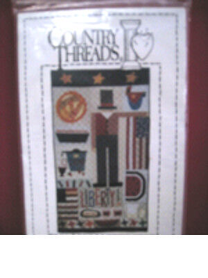 """Country Threads July 4th Liberty! Quilt Pattern NEW UNCUT 30""""x53"""" Sewing Pattern"""