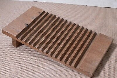 Antique 19th Century Primitive Hand Carved Wooden Washboard Rare
