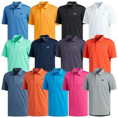 Adidas Mens Ultimate 365 Solid Colour Polo Shirt - Short Sleeve T-Shirt Golf Top