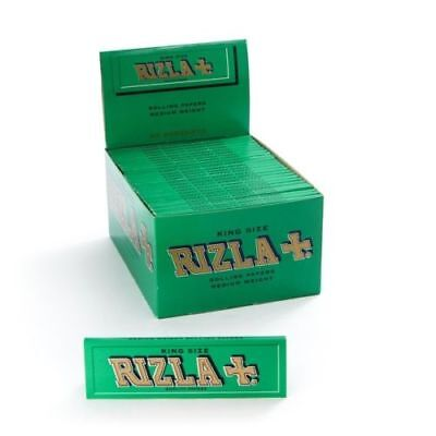 Rizla Green King Size Genuine Cigarette Smoking Rolling Papers Original Silver