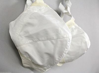 Exquisite Form Bullet Bra Vintage  NOS  36D  60S White Full Figure Pointed  532