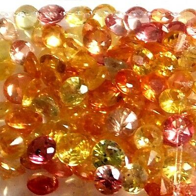 NATURAL MULTI-COLOUR SAPPHIRE GEMSTONES LOOSE 10pieces - 2.4 to 2.7 mm LOT