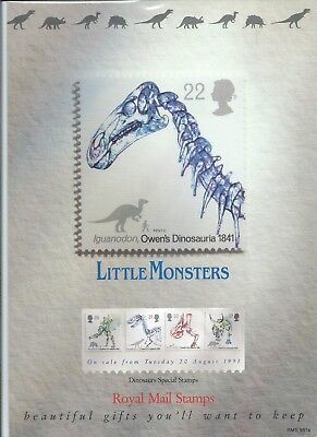 Gb - Royal Mail Posters - A4 - 1991 - Dinosaurs