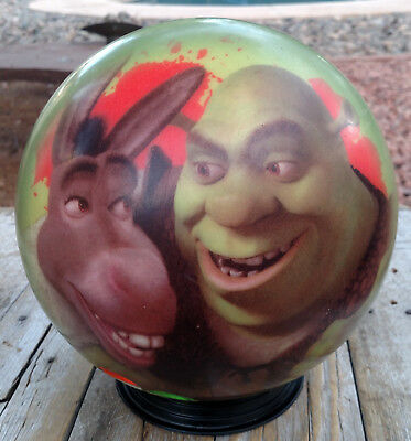 Dreamworks VIZ A Ball 2004 Shrek Donkey 12 Lbs DRILLED Bowling Ball