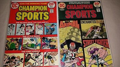 Champion Sports # 1 & 2 (DC 1973) VF/NM Hard Case