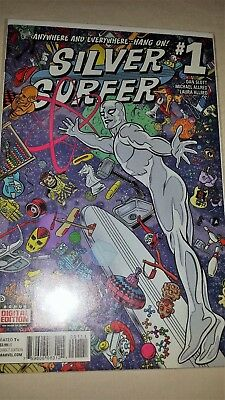 """Silver Surfer # 1 (2016) """"anywhere and everywhere""""  9.4+"""
