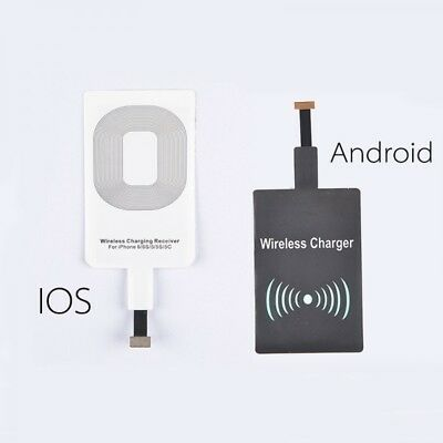 Qi Wireless Charger Charging Pad/Receiver For iPhone 5/6/7/8 Samsung 3/4/5 Note