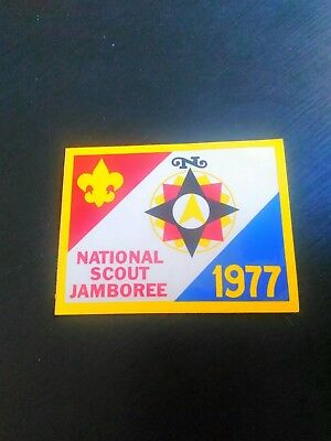 Rare Vintage Boy Scouts Of America 1977 National Scout Jamboree Sticker Bsa