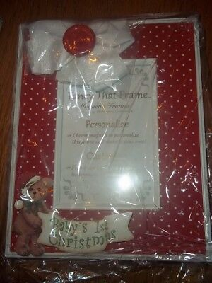 Baby's First Christmas Picture Frame With Teddy Bear Theme by Bearington Unisex