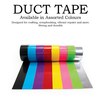 New Duck Duct Cloth Waterproof Gaffer Gaffa Tape Black White Silver 2 In X 30 Ft