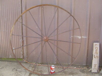 *LPU* 42 inch Vintage 36# Cast Iron metal WAGON IMPLEMENT WHEEL antique 14 spoke