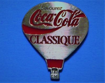 Coca Cola - Coke Classic (French) - Hot Air Balloon - Rare Vintage Lapel Pin