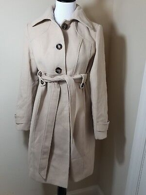 Small Motherhood Maternity Winter Jacket Trench Coat Beige