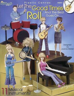 Let The Good Times Roll ~ fits Barbie dolls, plastic canvas pattern booklet