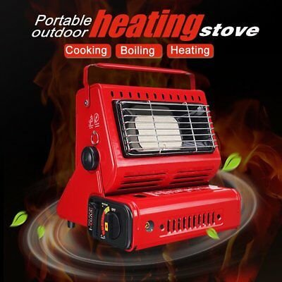 Portable Butane Gas Heater Camping Tent Hiking Outdoor Camper Companion 2KW OZ