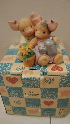 Enesco This Little Piggy  Figurine NIB 1995 Our love is Growing Pig couple