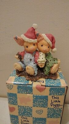Enesco This Little Piggy  Figurine NIB 1995 We Squish You a Merry Christmas