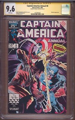 Captain America Annual # 8 CGC 9.6 NEAR MINT+ SS Mike Zeck COVER MARVEL 1986