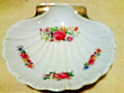Occupied Japan shell shaped dish floral pattern