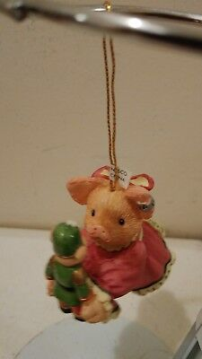 Enesco This Little Piggy Hanging Ornament Pig with Nutcracker 145882