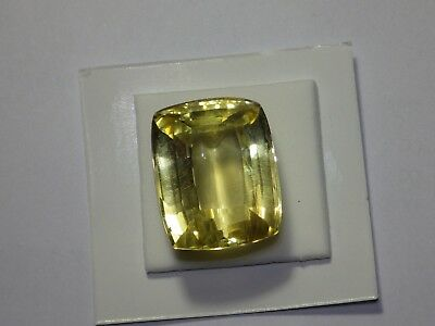 Rare Scapolite 29 Carats / Taille Coussin / Video / Certificat