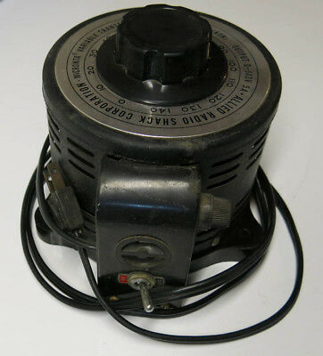 Radio Shack Micronta Variable Transformer Input 115V 50/60 Output KVA 0-140V Max