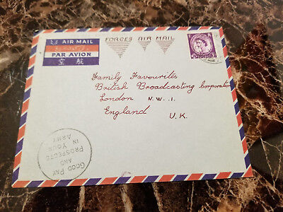 1959 England FPO 701 Field Post Cover from Kowloon Hong Kong
