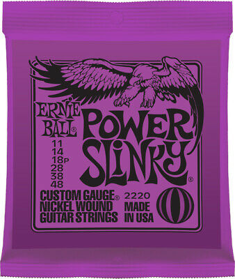 Ernie Ball 2220 Power Slinky Nickel Electric Guitar Strings Gauges 11 - 48