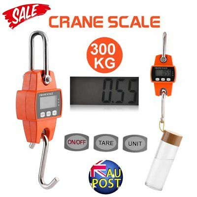 Portable Crane Scale 300kg 0.1kg Heavy Duty Electronic Hook Hanging Scale AU