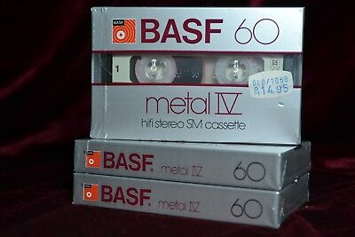 【ツ】⏏️ 1x BASF Metal SM IV 60 . rar Version OVP sealed Cassette Tape MC Kassette