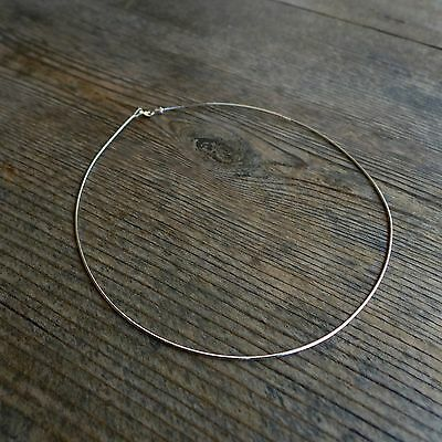 """16"""",925 Sterling Silver,1.2 mm Round Omega Chain Necklace,Choker,Made in Italy"""