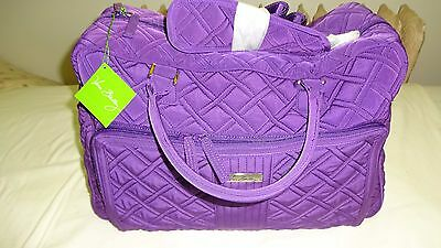 Vera Bradley Weekender Carry On Travel Zip Bag Elderberry Purple NWT