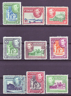 St. Vincent 1949; Short Definitive Set Of 9; Sc # 156-164; Used